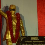 The bronze statue of MGR