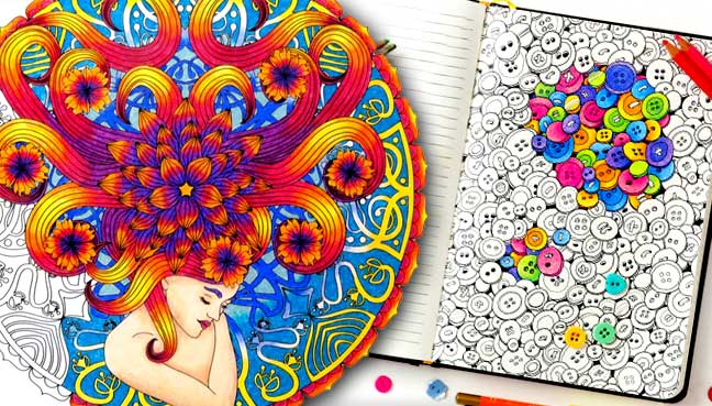 Adult Coloring Book Craze Booms In US