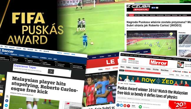 Incredible 'knuckleball' freekick by Penang's Faiz Subri earns worldwide acclaim