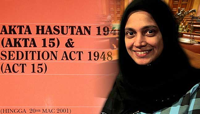 Kuala Lumpur Journalist Zakiah Koya Has Been Called In By The Police For Investigations Under The Sedition Act 1948