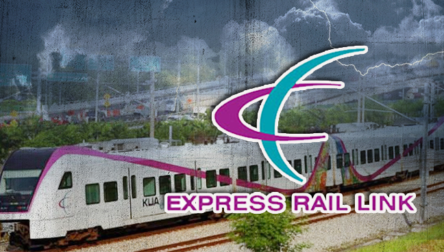 trees bring down erl service to airport during storm
