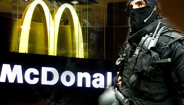 French elite forces down burgers to foil McHeist