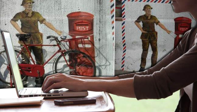 The postman bicycle stolen