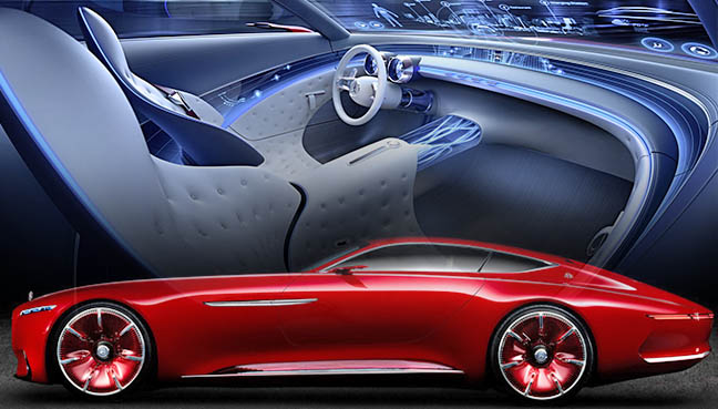 vision mercedes-maybach 6 is a 100% electric concept coupé   free