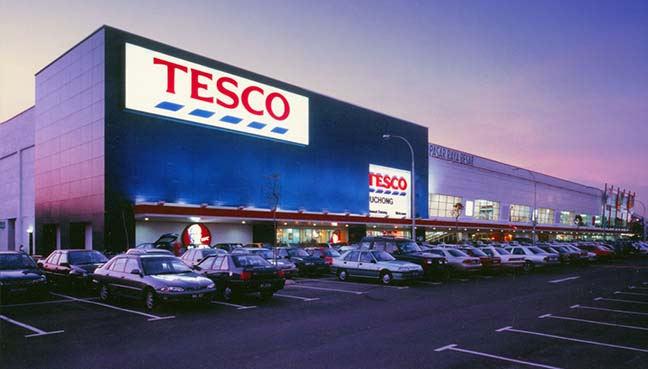 how many tesco stores in malaysia