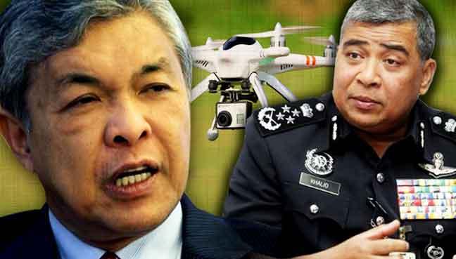 Zahid-Hamidi_Khalid-Abu-Bakar_drones_polis_600