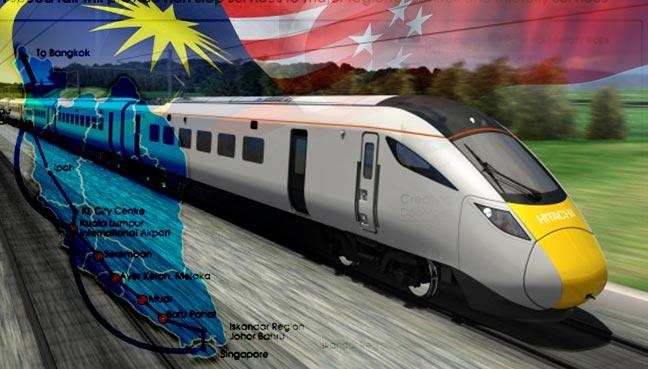 Rel kelajuan tinggi KL-Singapura mungkin RM77 bilion?