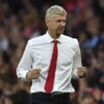 Arsenal's French manager Arsene Wenger celebrates after Arsenal scored their third goal during the English Premier League football match between Arsenal and Chelsea at the Emirates Stadium in London on September 24, 2016.  / AFP PHOTO / Ben STANSALL / RESTRICTED TO EDITORIAL USE. No use with unauthorized audio, video, data, fixture lists, club/league logos or 'live' services. Online in-match use limited to 75 images, no video emulation. No use in betting, games or single club/league/player publications.  /
