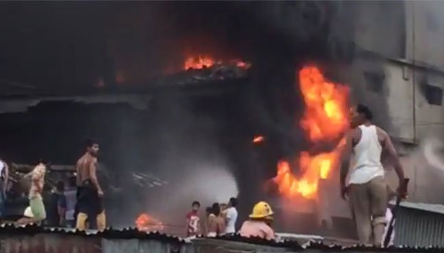 Early Morning Factory Fire Topples 5-Story Building in Bangladesh