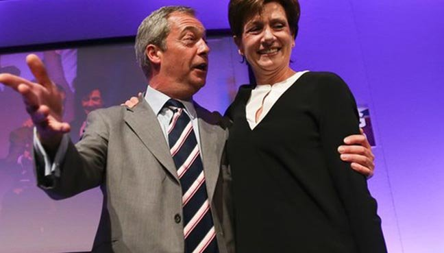 Diane James replaces Farage as head of Britain's UKIP