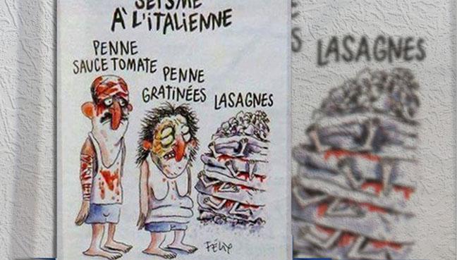 """Hasil carian imej untuk Charlie Hebdo Penne dalam sos tomato"""" dan"""