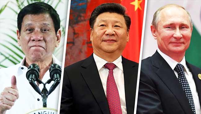 """""""Sestavte si seznam přání,"""" vzkazuje Rusko filipínskému prezidentovi Dutertemu během vytváření nové asijské osy"""