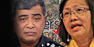 Maria Chin, IGP, Khalid2 Abu Bakar, Bersih 5, Bersih 2.0