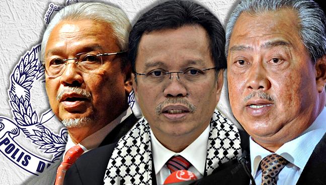 Hasil carian imej untuk Muhyiddin, Mohd Shafie dan Ahmad Husni