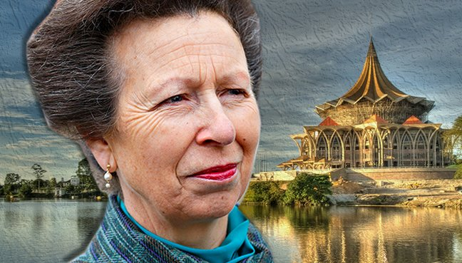 Princess Anne on two-day visit to Kuching