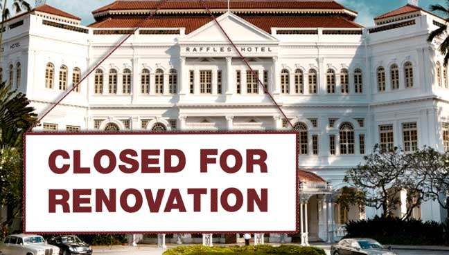 Singapore's Raffles Hotel to Get Face Lift in Late 2017