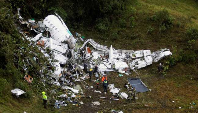 Brazilian football team in Colombia air crash