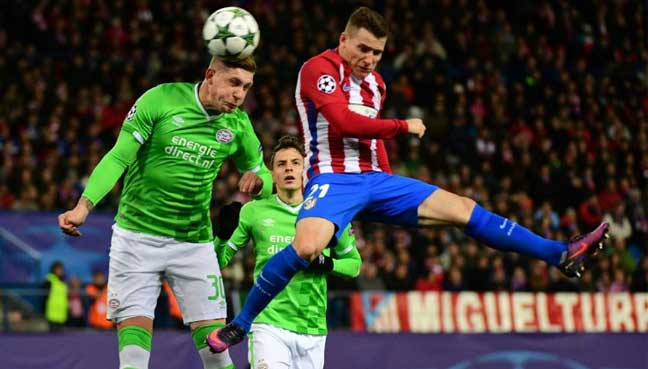 Atletico beat PSV to maintain perfect record and win group