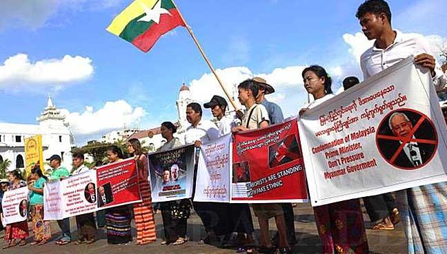 Najib-protest-in-Yangon