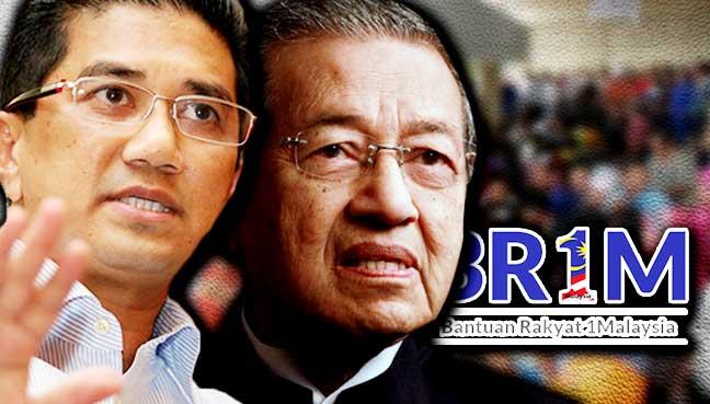 BR1M rasuah, Azmin setuju dengan Dr M