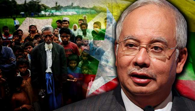 Image result for PM Najib and Rohingyas issues