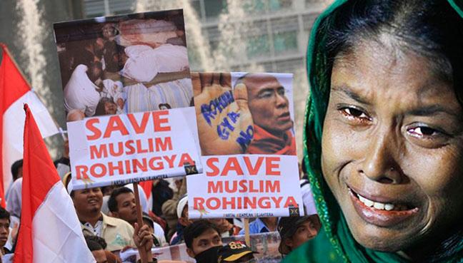 Atlanta protesters: Stop violence targeting Muslim minority in Myanmar