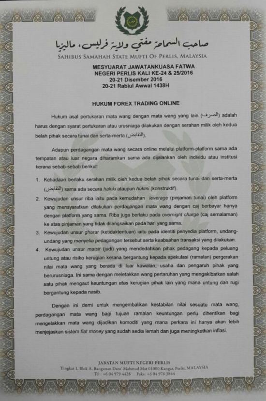 Hukum islam tentang forex mui