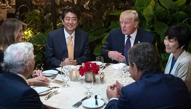 Malaysia - Trump and Abe retreat to Florida for golf course diplomacy ...