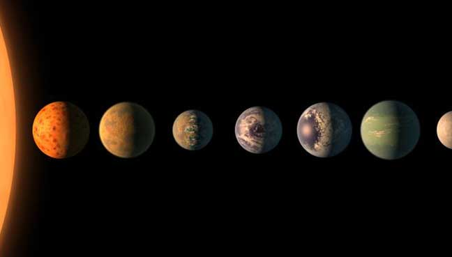 Astronomers find seven Earth-size planets where life is ...