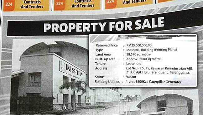 NSTP,-newspaper,-Terengganu,-Media-Prima,-printing-plant,-sale,