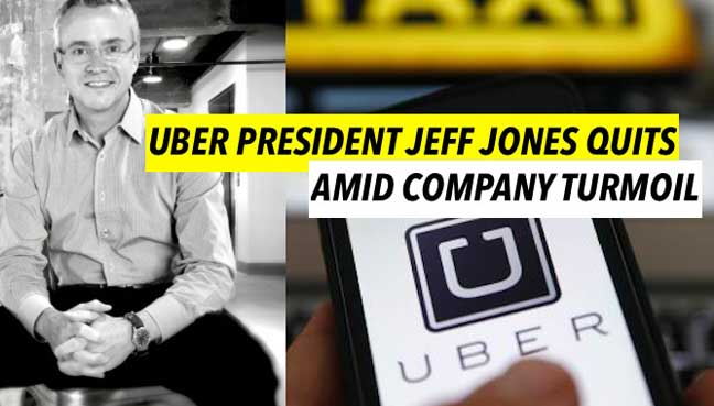 Image result for Uber President Jeff Jones Quits...