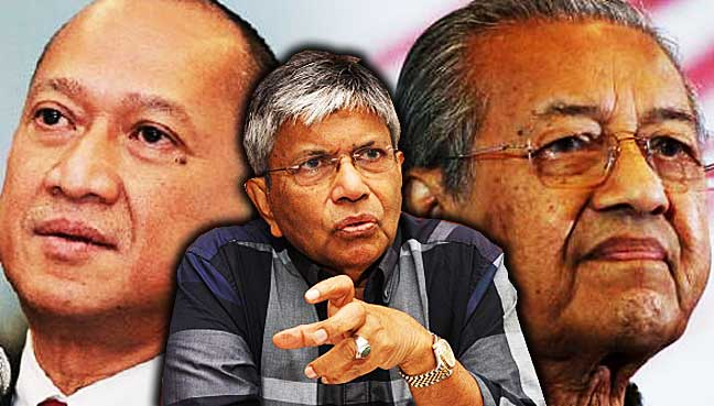 Zainuddin-Maidin,-Nazri-Aziz,-Mahathir-Mohamad,-public-debate,-Umno