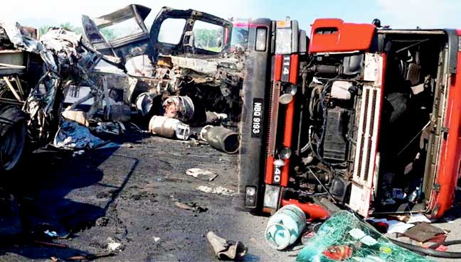 Lorry driver cut in half in grisly accident on SKVE highway