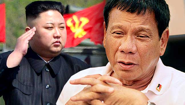 Image result for Photo of Duterte and North korea Kim