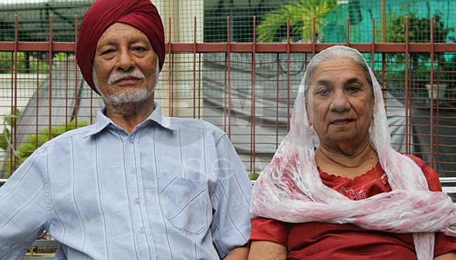 Baksis Singh,83, and his wife Narenjan Kaur, 80.
