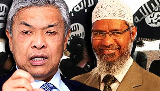 Image result for images of zahid and zakir naik