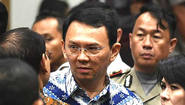 United Nations urges Indonesia to free jailed Jakarta governor