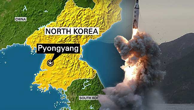 Pyongyang North Korea Fired A Ballistic Missile Sunday In An Apparent Bid To Test The South S New Liberal President And The Us Which Have Both Signalled An