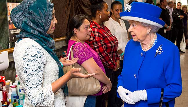 Queen Elizabeth II meets members of the community affected by the Grenfell Tower disaster.