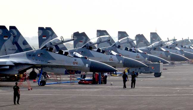 Three Sukhoi jets deployed to Tarakan to prevent terrorists from entering territory