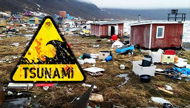 Four people missing as tsunami hits Greenland after natural disaster
