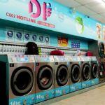 Mesin basuh dan pengering yang besar memuatkan pakaian sehingga 14kg menjadikan kedai dobi 24 jam semakin popular.