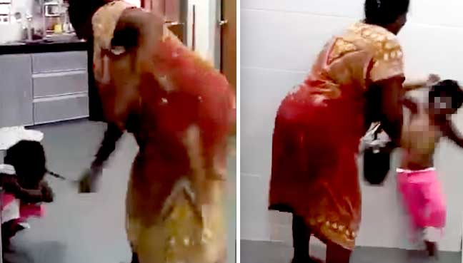 Woman arrested over video of brutal beating of child ...
