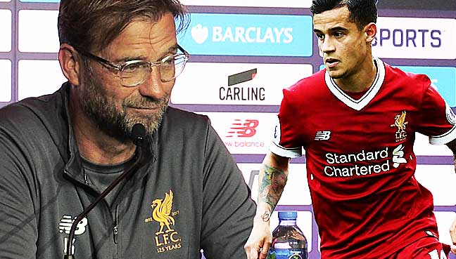 Coutinho-bid-a-waste-of-time,-Klopp-tells-Barca