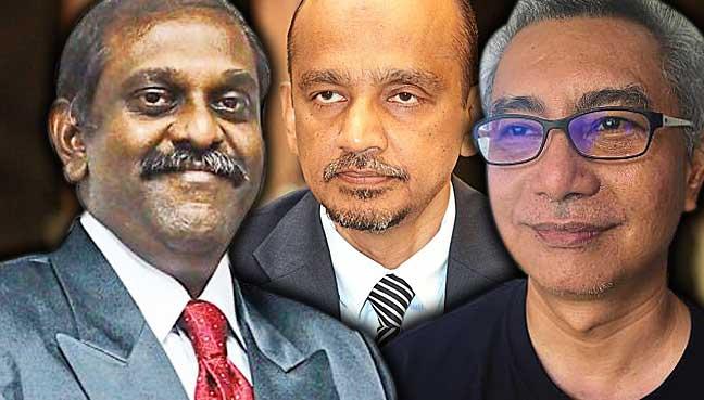 From left: H Krishna Kumar, Abdul Razak Muttalif, Anthony Tan
