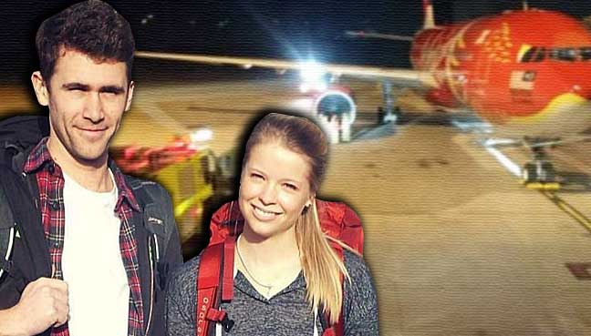 Jake-Marshall-and-Kelly-Sewell-air-asia-plane