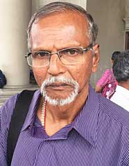 K. Krishnan, 68, one of the Kampung Gatco settlers arrested yesterday.
