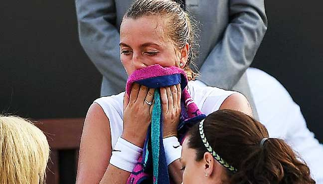 Petra Kvitova suffers early Wimbledon exit as Venus Williams battles on
