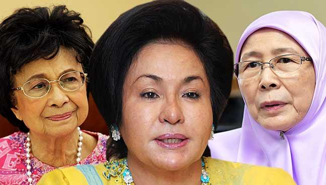 Dr Siti Hasmah Mohamad Ali, Rosmah Mansor and Dr Wan Azizah Wan Ismail.