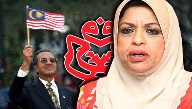 Shahrizat-Abdul-Jalil-mahathir-mohamad-bendera-malaysia-umno
